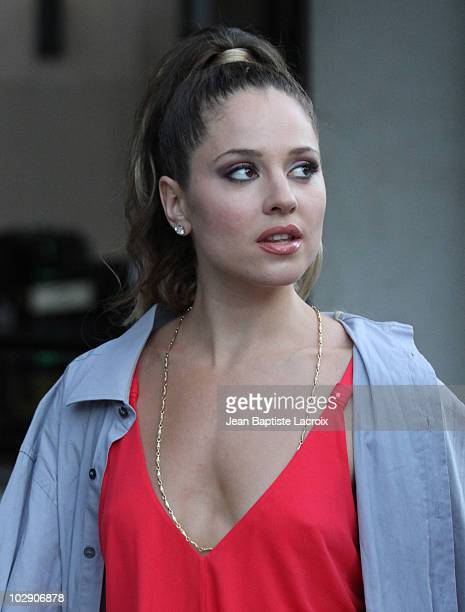 Margarita Levieva is see on location for 'The Lincoln Lawyer' on July 14 2010 in Los Angeles California
