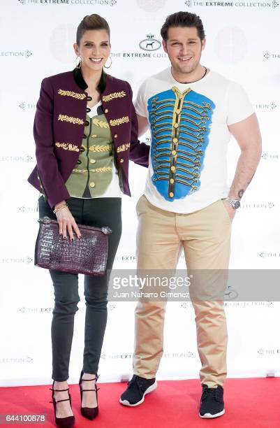 Margarita Vargas and Manu Tenorio attends 'Querer' TShirt Limited Edition presentation at Maison the Extremen Collection on February 23 2017 in...