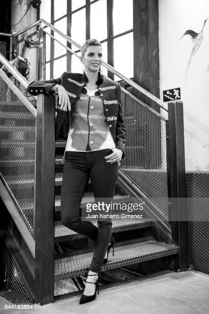 Margarita Vargas poses during a session portrait at Maison The Extreme Collection on February 23 2017 in Madrid Spain
