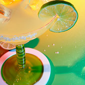 Margarita with Ice and Slice of Lime