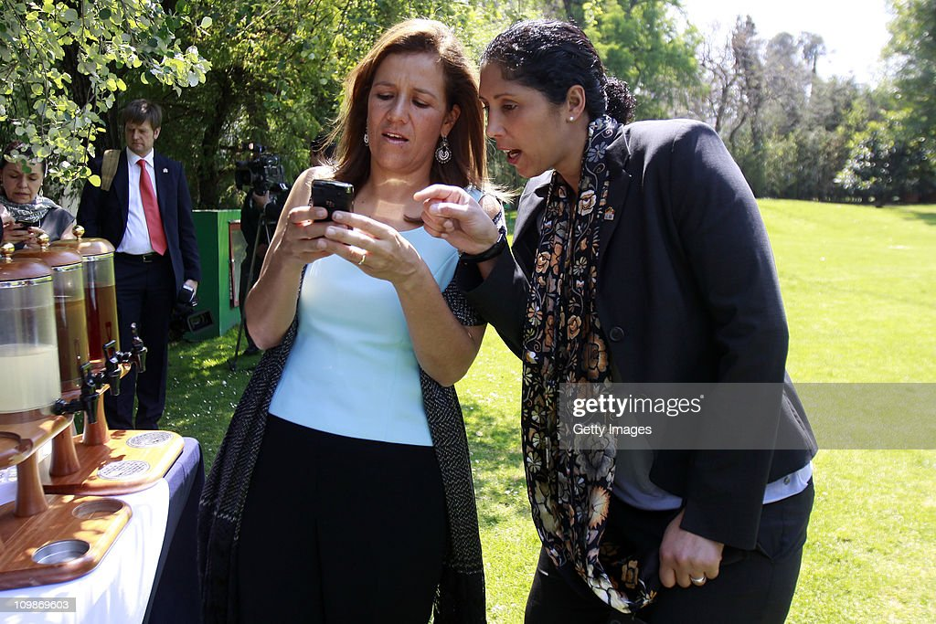 Margarita Zavala, first lady of Mexico and Steffi Jones, Organising Committee President's Cup Women's World Cup 2011, meet as part of the Germany 2011 FIFA Women's World Cup delegation Welcome Tour at Residencia Oficial de Los Pinos on March 08, 2011 in Mexico City, Mexico.