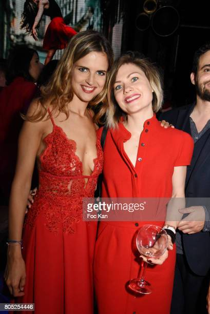 Margaux De Frouville and her guest attend the 'Red Defile' Auction Fashion Show Hosted by Ajila Association Association Against Women Heart Disease...