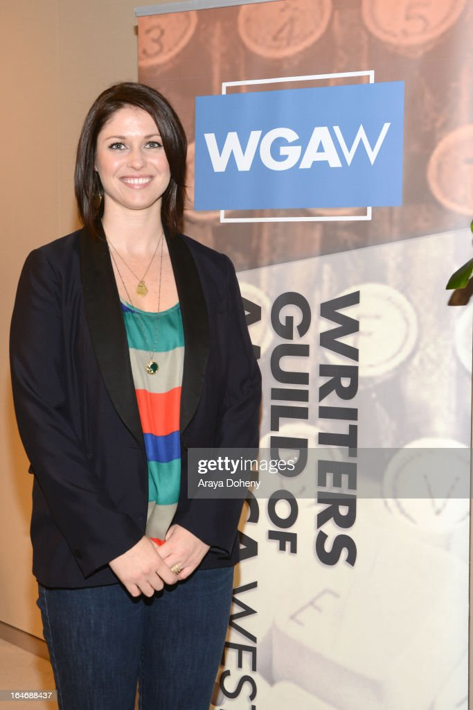 Margaux Froley attends the WGAW's 2013 TV Staffing Brief - Press Conference on March 26, 2013 in Los Angeles, California.