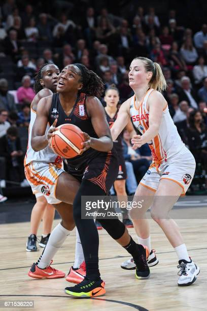 Margaux Galliou Loko of Bourges during the women's Final of the French Cup between Charleville Mezieres and Bourges Basket at AccorHotels Arena on...