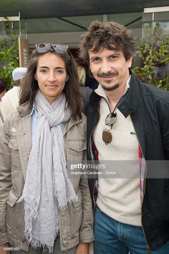 Margaux Laffite and Arnaud Tsamere attend the 2016 French tennis Open day 3, at Roland Garros on May 24, 2016 in Paris, France.