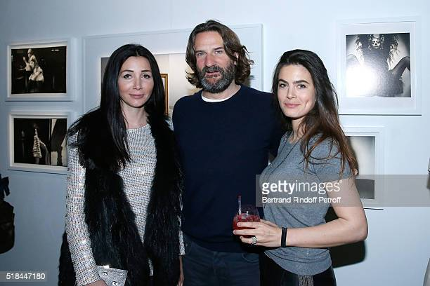 Margaux Reiffers Frederic Beigbeder and his wife Lara Micheli attend the 'Guy Bourdin Portraits' Exhibition Opening and Cocktail at Studio des...