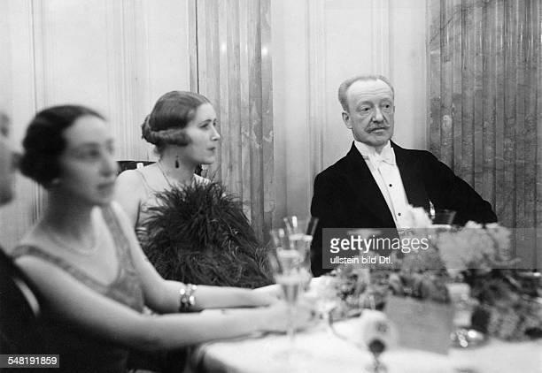 Margerie Pierre de Diplomat F *06101861June 1942 at the ball of the the DeutschFranzoesische Gesellschaft in the Hotel Esplanade at the...
