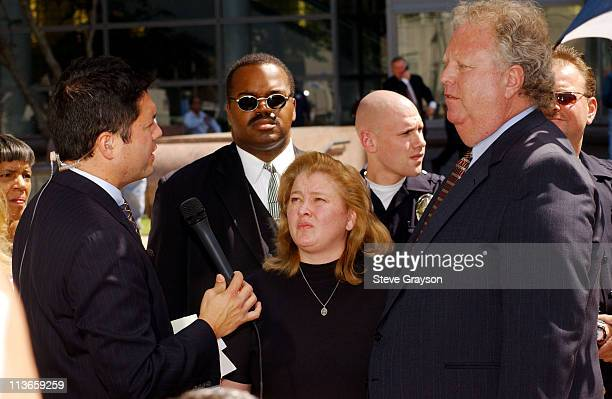 Margerry Bakley sister of Bonny Lee Bakley gives an interview to CNN outside Van Nuys Superior Court after the arraignment of actor Robert Blake in...