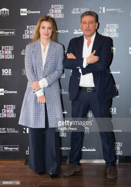 Margherita Buy and Sergio Castellitto attend the Photocall of 'Piccoli Crimini Coniugali'