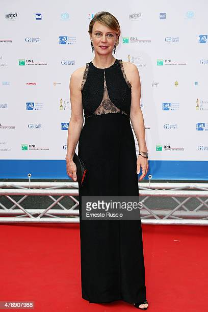 Margherita Buy attends the '2015 David Di Donatello' Awards Ceremony at Teatro Olimpico on June 12 2015 in Rome Italy