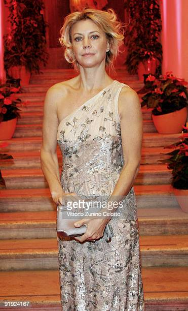 Margherita Buy attends the 4th International Rome Film Festival Opening Party held at Villa Medici on October 15 2009 in Rome Italy