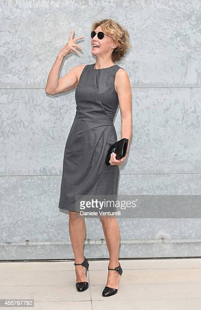 Margherita Buy attends the Giorgio Armani Show as part of Milan Fashion Week Womenswear Spring/Summer 2015 on September 20 2014 in Milan Italy