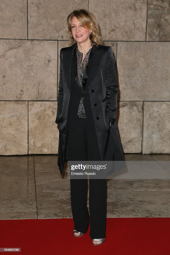 Margherita Buy attends the 'Viaggio Sola' premiere at Ara Pacis on March 26, 2013 in Rome, Italy.