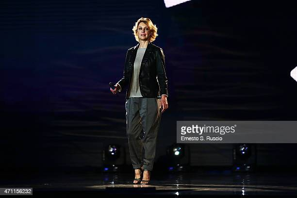 Margherita Buy attends the 'Viva il 25 aprile' at Piazza del Quirinale on April 25 2015 in Rome Italy