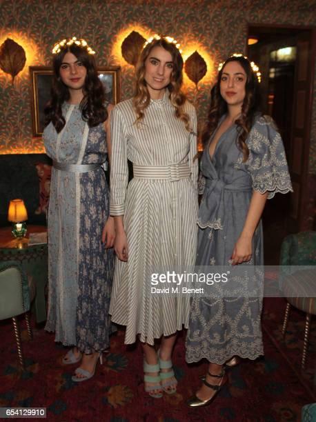 Margherita Campello Beatrice Salsano and Maria Vittoria Raiola attend the Luisa Beccaria and Robin Birley event celebrating Sicilian lifestyle music...