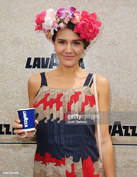Margherita Maccapani Missoni at the Lavazza Marquee on Derby Day at Flemington Racecourse on November 1 2014 in Melbourne Australia