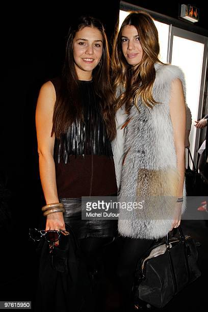 Margherita Missoni and Bianca Brandolini d'Adda attends the Louis Vuitton Ready to Wear show as part of the Paris Womenswear Fashion Week Fall/Winter...