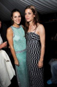Margherita Missoni and Charlotte Casiraghi attends the 'Sadie Coles And Angela Missoni Dinner For Gabriel Kuri And Urs Fischer' during the 54th...