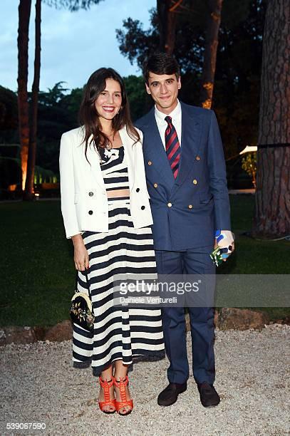 Margherita Missoni and Eugenio Amos attend McKim Medal Gala In Rome at Villa Aurelia on June 9 2016 in Rome Italy