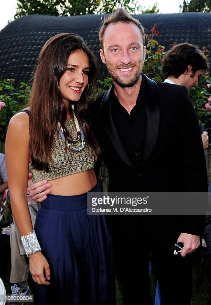 Margherita Missoni and Francesco Facchinetti attend the Missoni Cocktail Party as part of the Milan Fashion Week Menswear S/S 2011 on June 18 2010 in...