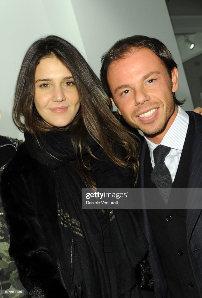 Margherita Missoni and Nicolo Cardi attend the 'The Art Of Camouflage' at The Cardi Black Box Gallery on December 13 2010 in Milan Italy