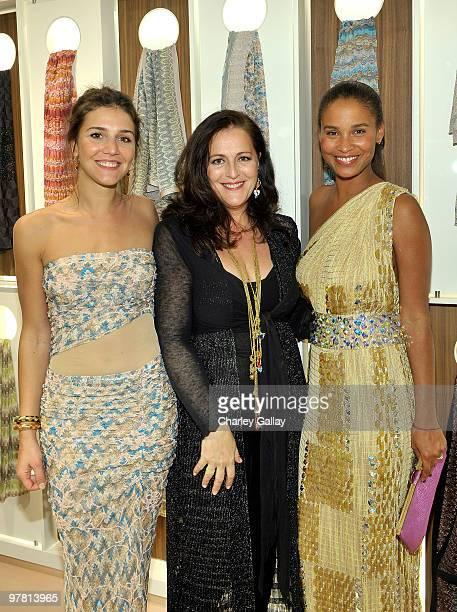 Margherita Missoni Angela Missoni and Actress Joy Bryant attend the Missoni Beverly Hills store opening held at Missoni Beverly Hills on March 17...