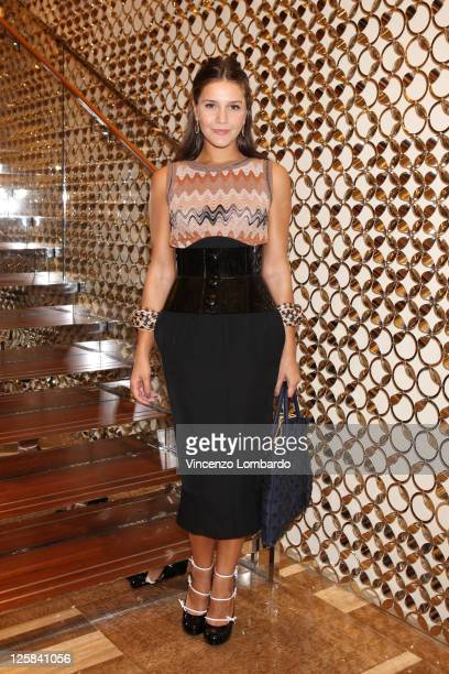 Margherita Missoni attends the Louis Vuitton flagship store opening during Milan Fashion Week Womenswear Spring/Summer 2012 on September 21 2011 in...