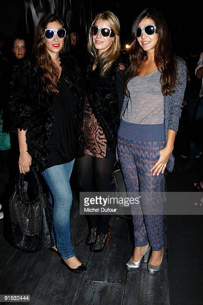 Margherita Missoni Tatiana Santo Domingo and Eugenia Niarchos attends the Valentino Pret à Porter show as part of the Paris Womenswear Fashion Week...