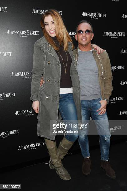 Margherita Zanatta and Luca Alghisi attend The Art Projects By Audemars Piguet Presentation on March 29 2017 in Milan Italy