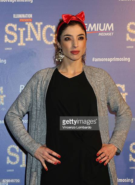 Margherita Zanatta attends a photocall for 'Sing' on December 13 2016 in Milan Italy