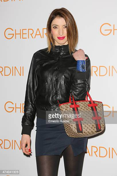 Margherita Zanatta attends the Gherardini Boutique Opening during the Milan Fashion Week Womenswear Autumn/Winter 2014 on February 21 2014 in Milan...