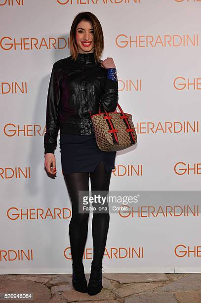 Margherita Zanatta attends the Gherardini presentation during Milan fashion Week on February 21 2014 in Milan Italy