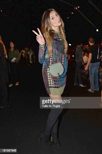 Margherita Zanatta attends the Massimo Rebecchi show as part of Milan Fashion Week Womenswear Spring/Summer 2014 on September 22 2013 in Milan Italy