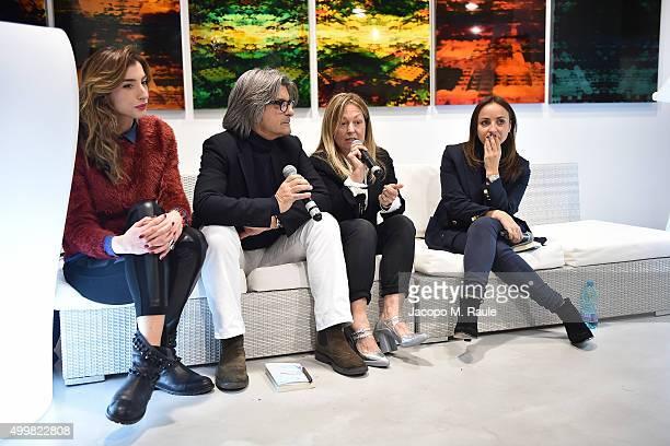 Marghertia Zanatta Roberto Alessi Barbara Fabbroni and Camila Raznovich attend the book presentation of 'L'AMORE FORSE' by Barbara Fabbroni on...