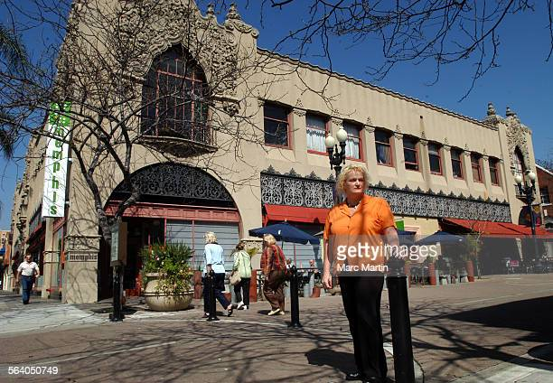 Margie Tabor Zuliani outside the Santora Building in Santa Ana where she operated the Legacy gallery for eight years The gallery was a venue for...