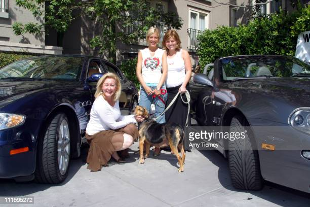 Margit Haut director of sales and marketing Graciela Hotel Tori Spelling and Nicki Wier founder of Much Love Animal Rescue