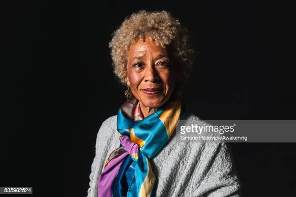 Margo Jefferson attends a photocall during the Edinburgh International Book Festival on August 20 2017 in Edinburgh Scotland