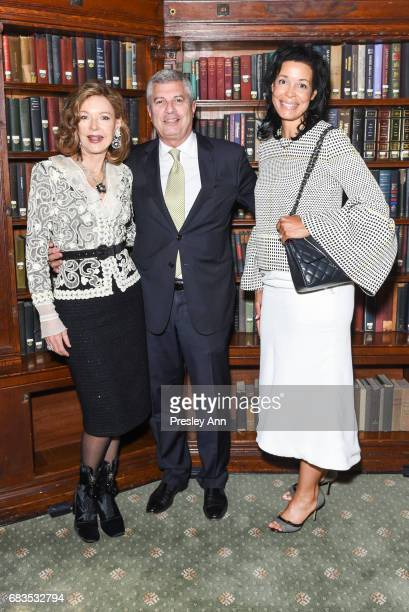 Margo Langenberg Carl Adams and Kim Heirston attend Audrey Gruss' Hope for Depression Research Foundation Dinner with Author Daphne Merkin at The...