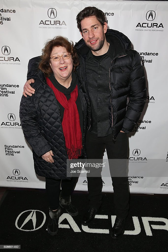 Margo Martindale and John Krasinski arrive to 'The Hollars' Premiere Party at The Acura Studio at Sundance Film Festival 2016 on January 24 2016 in...