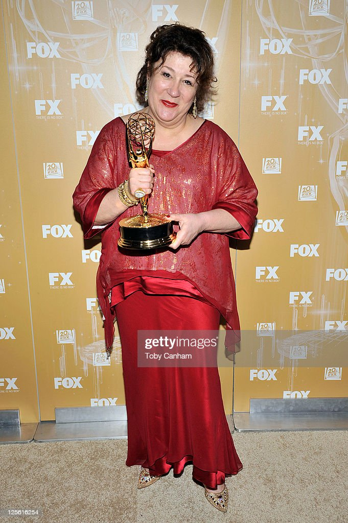 <a gi-track='captionPersonalityLinkClicked' href=/galleries/search?phrase=Margo+Martindale&family=editorial&specificpeople=2649306 ng-click='$event.stopPropagation()'>Margo Martindale</a> arrives for the Fox Broadcasting Company, Twentieth Century Fox Television And FX 2011 Emmy after party on September 18, 2011 in West Hollywood, California.
