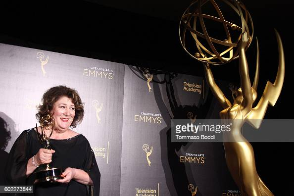 Margo Martindale poses in the press room at the 2016 Creative Arts Emmy Awards held at Microsoft Theater on September 10 2016 in Los Angeles...