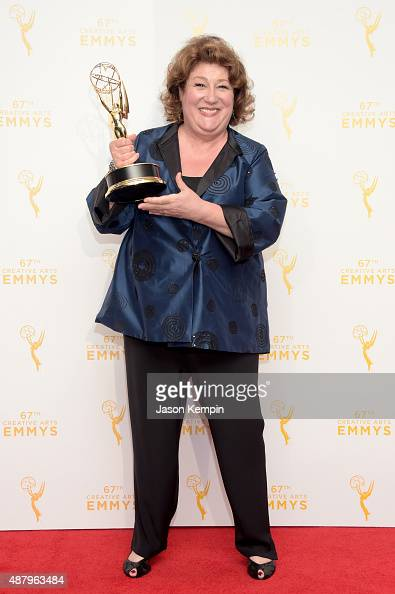 """Margo Martindale winner of the award for outstanding guest actress in a drama series for """"The Americans"""" poses in the press room during the 2015..."""