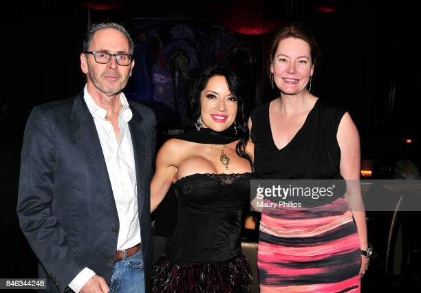 Margo Rey and guest attend The Roots of Rey Despacito Margo album release party at Herb Alpert's Vibrato Grill Jazz on September 12 2017 in Los...