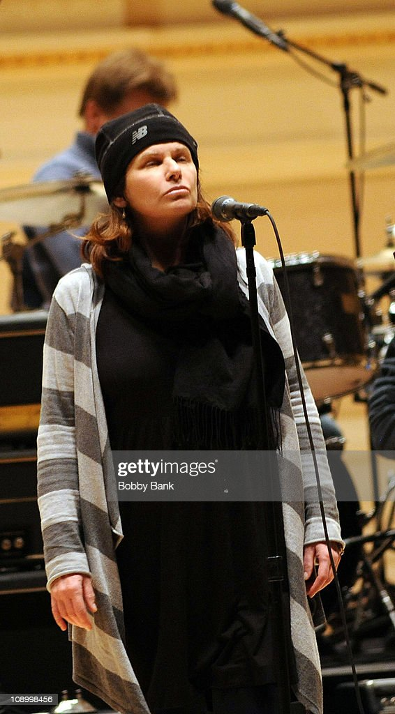 Margo Timmins of the Cowboy Junkies rehearses for The Music of Neil Young at Carnegie Hall on February 10, 2011 in New York City.