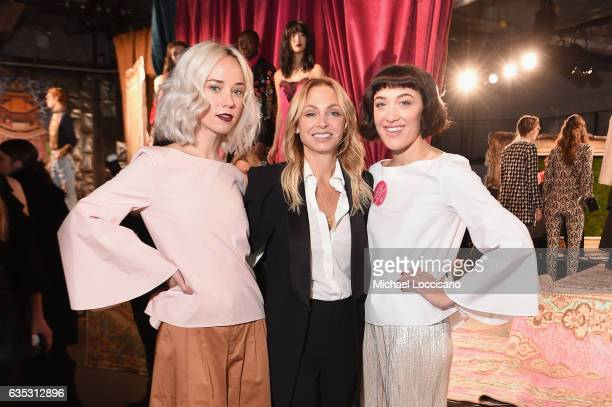 Margot and Mia Moretti attend the alice olivia by Stacey Bendet Fall 2017 Presentation at Highline Stages on February 14 2017 in New York City