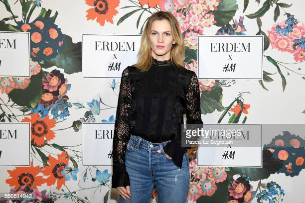 Margot Bancilhon attends ERDEM X HM Paris Collection Launch at Hotel du Duc on October 26 2017 in Paris France