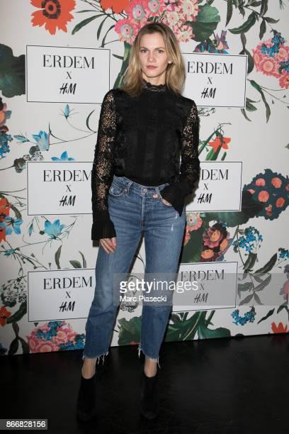 Margot Bancilhon attends the 'ERDEM X HM' Paris Collection Launch at Hotel du Duc on October 26 2017 in Paris France