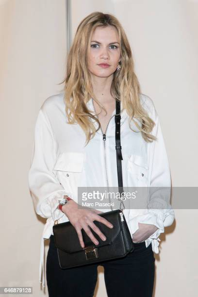 Margot Bancilhon attends the HM Studio show as part of the Paris Fashion Week on March 1 2017 in Paris France