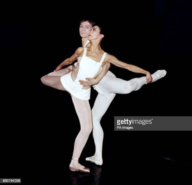 Margot Fonteyn and Rudolf Nureyev during a rehearsal of Roland Petit's new ballet 'Paradise Lost' at Covent Garden in London The ballet is to have...