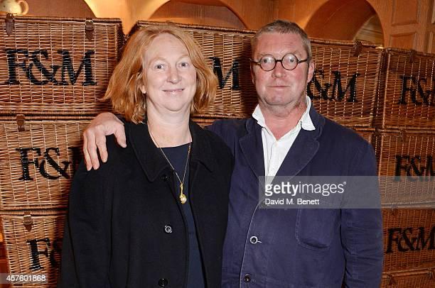 Margot Henderson and Fergus Henderson attend Fortnum Mason's Diamond Jubilee Tea Salon for the launch of Tom Parker Bowles' new book 'Let's Eat Meat'...